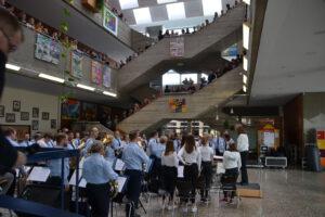 Schulorchester und Luftwaffenmusikkorps Konzert Schule